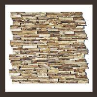 RS-HO-003  Wand-Design Holz Verblender Teakholz Wandverkleidung