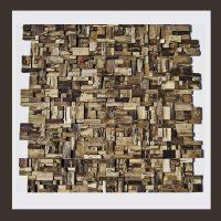RS-HO-005  Wand-Design Holz Verblender Teakholz Wandverkleidung