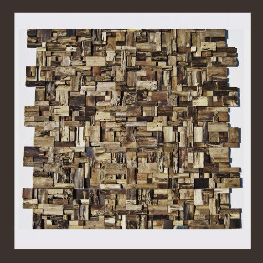 Verblender - Teak-Holz Mosaik HO-005