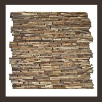 RS-HO-006  Wand-Design Holz Verblender Teak-Holz Wandverkleidung
