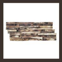 Verblender - Teak-Holz Mosaik HO-006