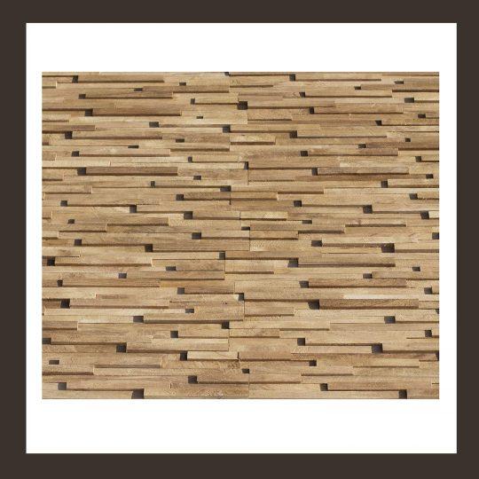 Verblender - Teak-Holz Mosaik-Fliesen HO-007
