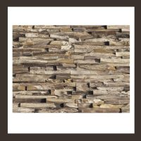 RS-HO-008 Wand-Design Holz Verblender Teak-Holz Wandverkleidung
