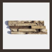 Verblender HO-008 - 3D Teak Holz Mosaik