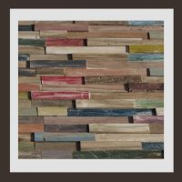 RS-HO-009  Wand-Design Holz Verblender Teak-Holz Wandverkleidung