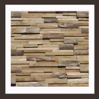 RS-HO-010  Wand-Design Holz Verblender Teak-Holz Wandverkleidung
