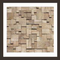 RS-HO-011 Wand-Design Holz Verblender Teak-Holz Wandverkleidung