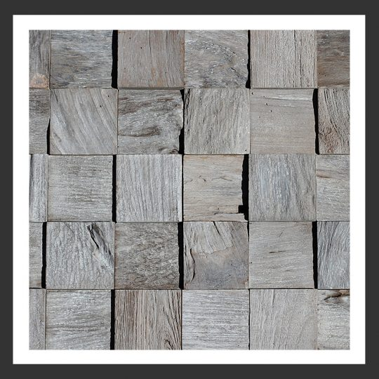 HU-004 Holz-Design Holz Verblender Teak Holz Verkleidung
