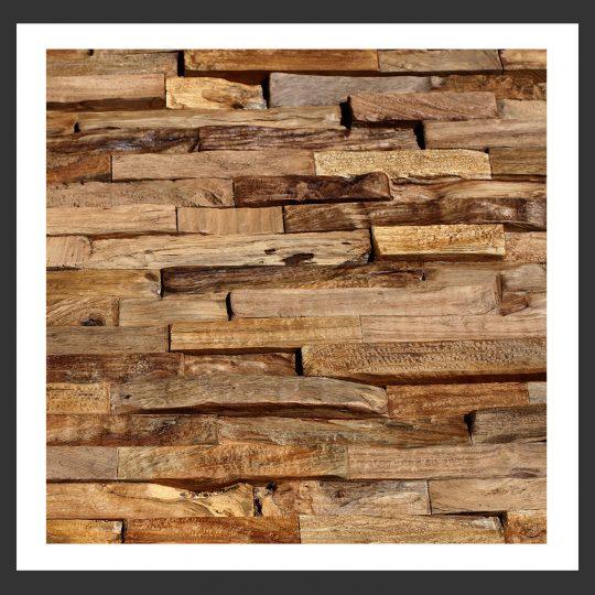 HU-006 Holz-Design Holz Verblender Teak Holz Verkleidung