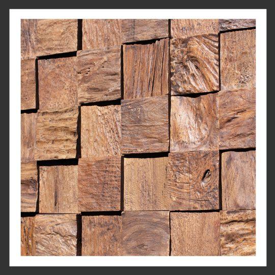 HU-008 Holz-Design Holz Verblender Teak Holz Verkleidung