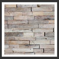HU-010 Holz-Design Holz Verblender Teak Holz Verkleidung