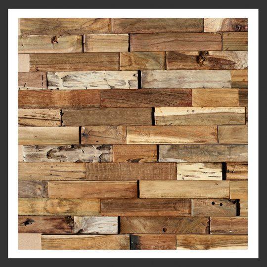 HU-012 Holz-Design Holz Wand Verblender Teak Holz Verkleidung