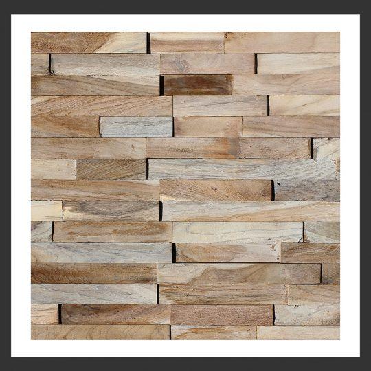 HU-013 Holz-Design Holz Wand Verblender Teak Holz Verkleidung