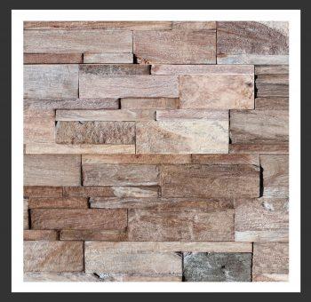 HU-014 Holz-Design Holz Wand Verblender Teak-Holz Verkleidung