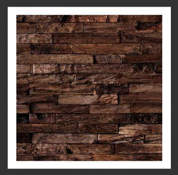 HU-015 Holz-Design Holz Wand Verblender Teak-Holz Verkleidung