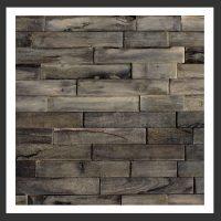HU-016 Holz-Design Holz Wand Verblender Teak-Holz Verkleidung