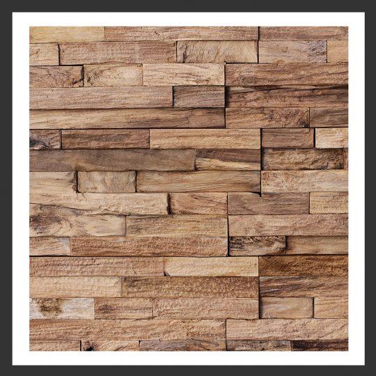 HU-017 Holz-Design Holz Wand Verblender Teak-Holz Verkleidung