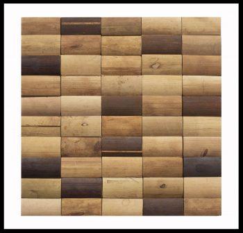 BM-001 Mosaikfliesen Bambus Holz Wandverkleidung Bamboo-Mosaic