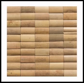 BM-003 Bambus Holz-Verblender Wandverkleidung Bamboo-Mosaic