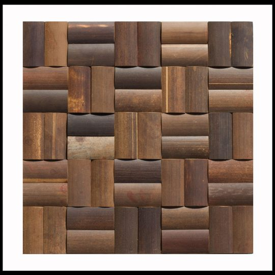 BM-005 Bambus Mosaikfliesen Wand-Design Holz-Verblender Bamboo-Mosaic