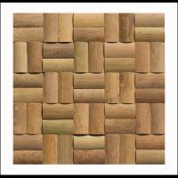 BM-006 Mosaikfliesen Bambus Holz Wandverkleidung Bamboo-Mosaic