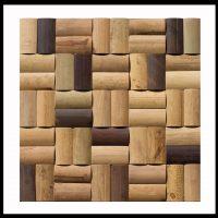BM-008 Wandverkleidung Bambus Mosaik Wand-Design Bamboo-Mosaic