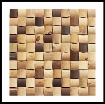 BM-009 Bambus Mosaikfliesen Holz-Design Wand-Verblender Bamboo-Mosaic