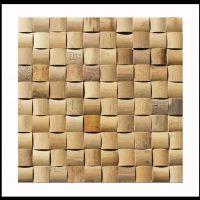 BM-010 Wandverkleidung Bambus Mosaik Holz-Design Bamboo-Mosaic