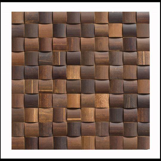 BM-012 Bambus Mosaikfliesen Wand-Design Holz-Verblender Bamboo-Mosaic