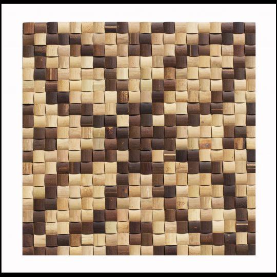 BM-013 Bambus Mosaikfliesen Rosone Wand-Design Bamboo-Mosaic
