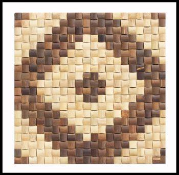 BM-014 Bambus Mosaik Rosone Holz-Design Verblender Bamboo-Mosaic